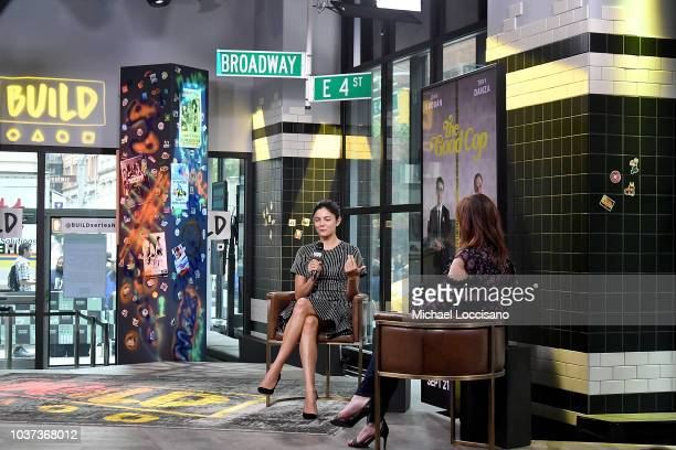 Actress Monica Barbaro visits Build to discuss the TV series 'The Good Cop' at Build Studio on September 21 2018 in New York City