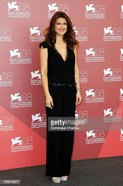 Actress Monica Barladeanu attends the Maternity Blues Photocall during the 68th Venice International Film Festival at Palazzo del Casino on September...