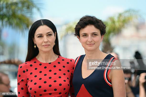 Actress Monica Bellucci and director Alice Rohrwacher attend 'The Wonders' photocall at the 67th Annual Cannes Film Festival on May 18 2014 in Cannes...