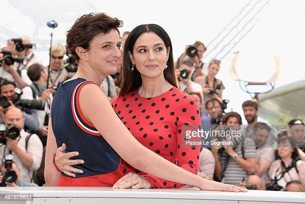 Actress Monica Bellucci and director Alice Rohrwacher attend the 'La Meraviglie' photocall during the 67th Annual Cannes Film Festival on May 18 2014...