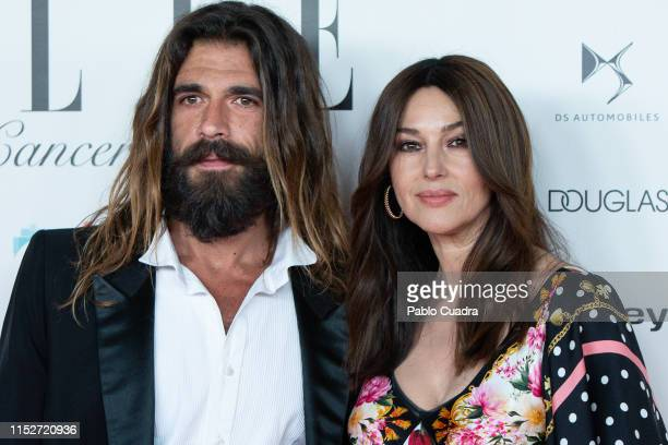 Actress Monica Bellucci and Nicolas Lefebvre attend ELLE Charity Gala 2019 to raise funds for cancer at Intercontinental Hotel on May 30, 2019 in...