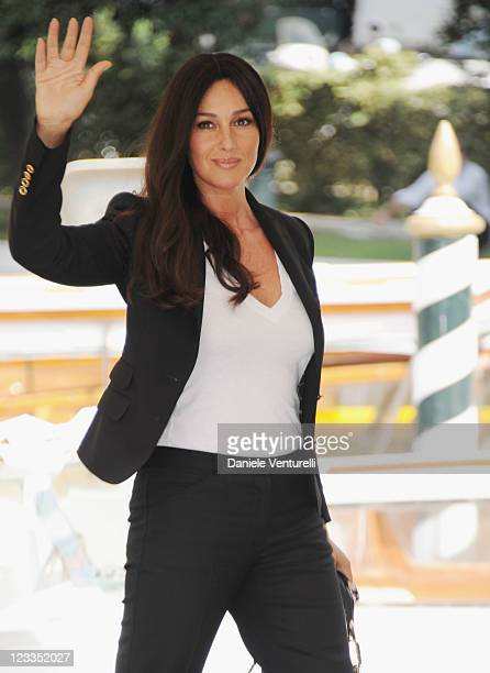 Actress Monica Bellucci arrives during the 68th Venice International Film Festival on September 2 2011 in Venice Italy
