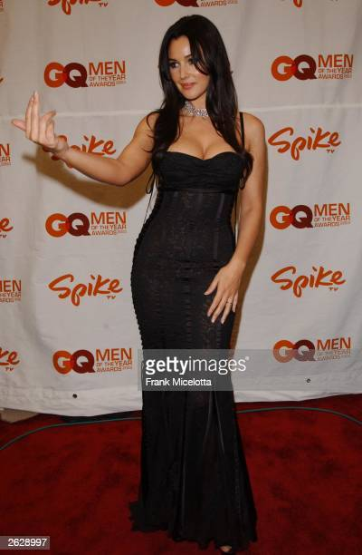 """Actress Monica Bellucci arrives to the 2003 GQ """"Men of the Year"""" Awards at The Regent Hotel on October 21, 2003 in New York City. The GQ """"Men of the..."""