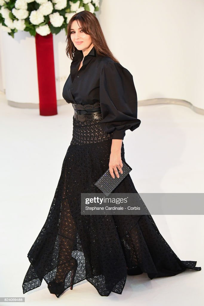 Actress Monica Bellucci attend the 69th Monaco Red Cross Ball Gala at Sporting Monte-Carlo on July 28, 2017 in Monte-Carlo, Monaco.
