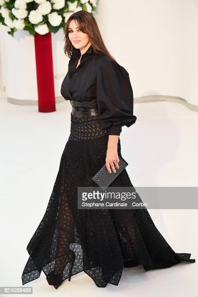 Actress Monica Bellucci attend the 69th Monaco Red Cross Ball Gala at Sporting Monte-Carlo on July 28, 2017 in Monte-Carlo, Monaco.