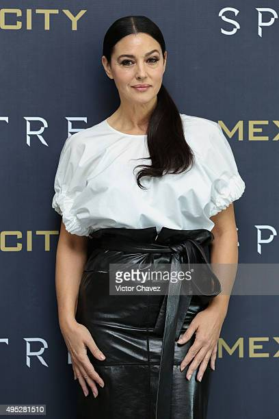 Actress Monica Bellucci attends a photo call to promote the new film 'Spectre' on November 1 2015 in Mexico City Mexico
