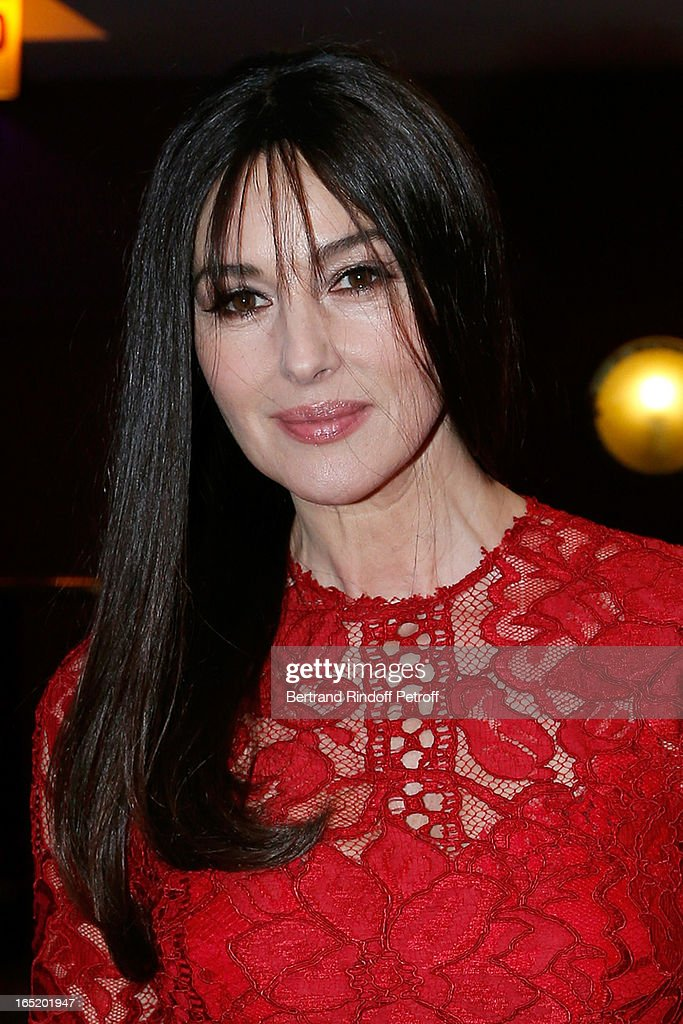 Actress Monica Bellucci attends 'Des gens qui s'embrassent' movie premiere at Cinema Gaumont Marignan on April 1, 2013 in Paris, France.
