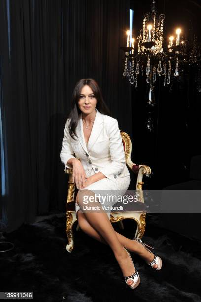Actress Monica Bellucci attends Dolce Gabbana VIP Room at the Metropol during Milan Womenswear Fashion Week on February 26 2012 in Milan Italy