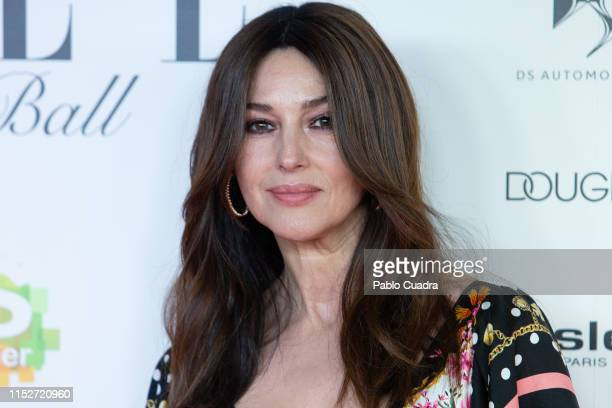 Actress Monica Bellucci attends ELLE Charity Gala 2019 to raise funds for cancer at Intercontinental Hotel on May 30, 2019 in Madrid, Spain.