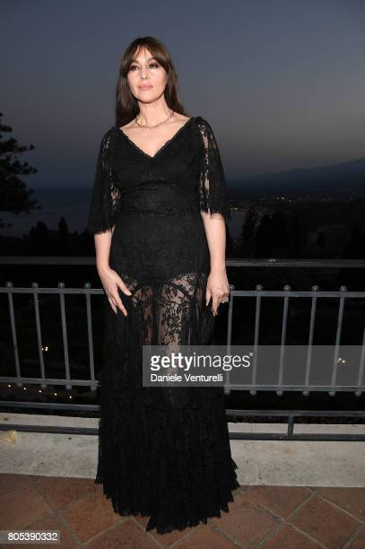 Actress Monica Bellucci attends Nastri D'Argento 2017 Awards Ceremony on July 1 2017 in Taormina Italy