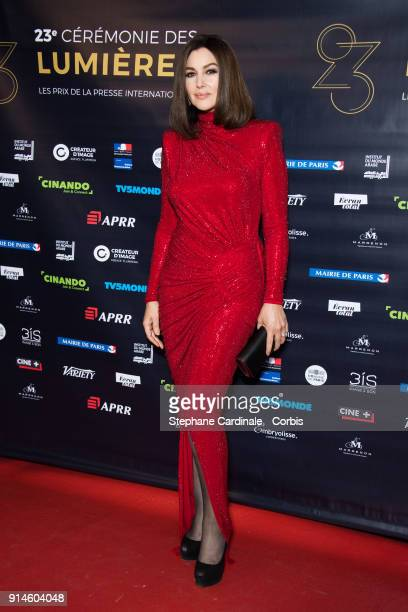 Actress Monica Bellucci attends the 23rd Lumieres Award Ceremony at Institut du Monde Arabe on February 5, 2018 in Paris, France.