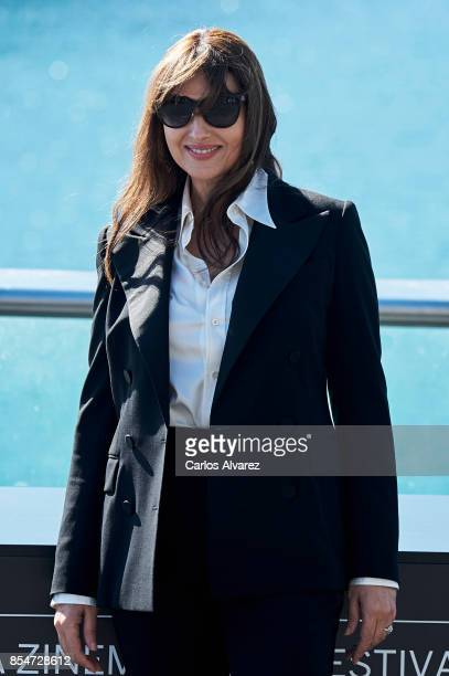 Actress Monica Bellucci attends the Donostia Award photocall during the 65th San Sebastian International Film Festival on September 27 2017 in San...