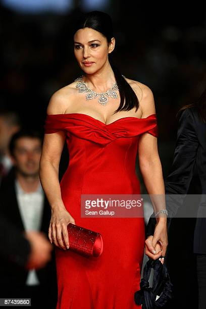 Actress Monica Bellucci attends the Don't Look Back Premiere held at the Palais Des Festival during the 62nd International Cannes Film Festival on...