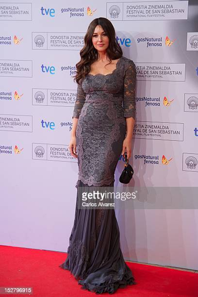 Actress Monica Bellucci attends the Fasle Kargadan premiere at the Kursaal Palace during the 60th San Sebastian International Film Festival on...