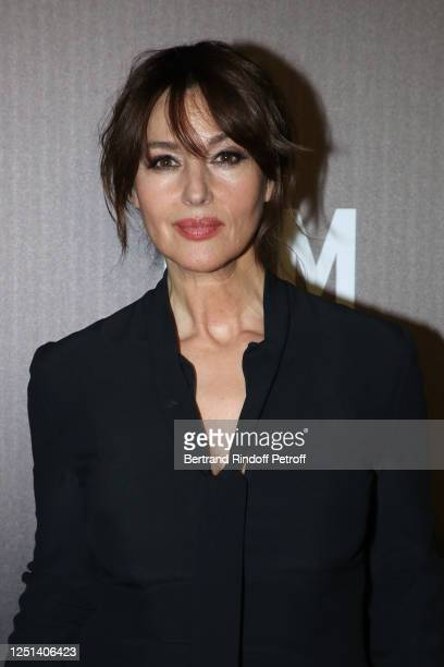 "Actress Monica Bellucci attends the ""Jam Capsule - An Immersive cultural experience"" Exhibition opening night at Grande Halle de La Villette on June..."