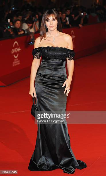 Actress Monica Bellucci attends the L'Uomo Che Ama Premiere during the 3rd Rome International Film Festival held at the Auditorium Parco della Musica...