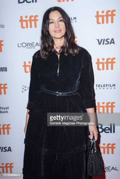 Actress Monica Bellucci attends the Nekrotonic Midnight Madness Premiere during the Toronto International Film Festival at Ryerson Theatre on...