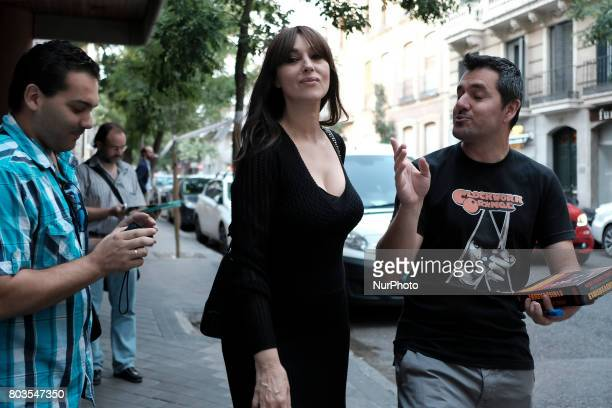Actress Monica Bellucci attends the premier 'On the Milky Road' at Film academy on June 29 2017 in Madrid Spain