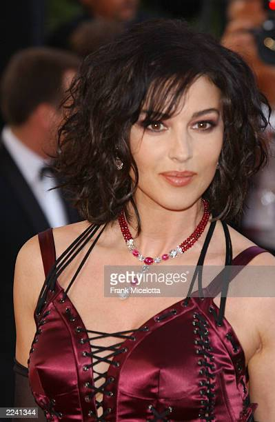 """Actress Monica Bellucci attends the premiere of the film """"Matrix Reloaded"""" at the 56th International Cannes Film Festival May 15, 2003 in Cannes,..."""