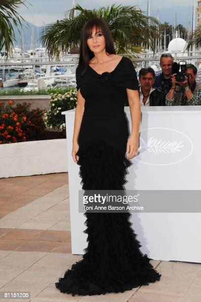 Actress Monica Bellucci attends the Une Historie Italienne photocall at the Palais des Festivals during the 61st Cannes International Film Festival...