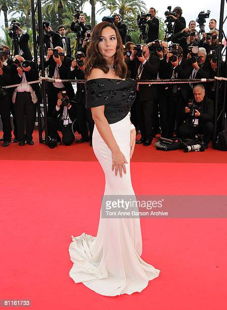 Actress Monica Bellucci attends the 'Wild Blood' premiere at the Palais des Festivals during the 61st Cannes International Film Festival on May 19...