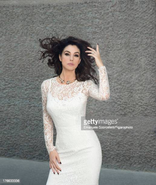 107162006 Actress Monica Bellucci is photographed for Madame Figaro on June 19 2013 in Paris France Dress 'Affranchie' necklace and Trinity XL ring...