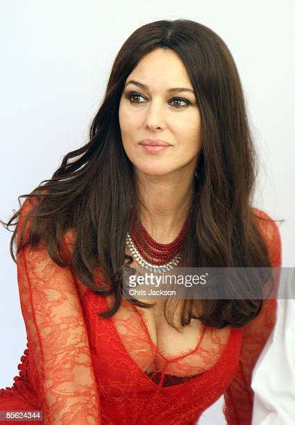 Actress Monica Bellucci poses for a photograph during the inauguration of the new Cartier Boutique at Dubai Mall on March 26 2009 in Dubai United...