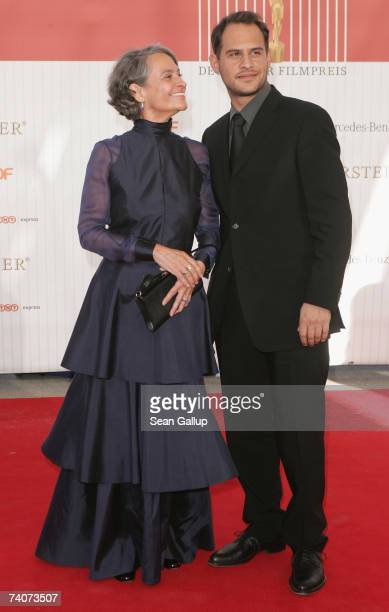 Actress Monica Bleibtreu and her son actor Moritz Bleibtreu attend the German Film Award at the Palias am Funkturm May 4 2007 in Berlin Germany