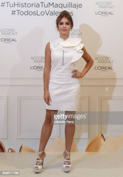Actress Monica Cruz attends the 'L'Oreal Accord Parfit' photocall at Circulo de Bellas Artes on September 12 2017 in Madrid Spain