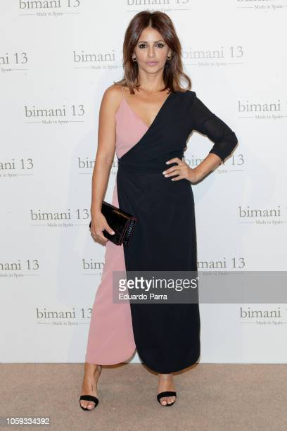 Actress Monica Cruz attends the 'Trece by Bimani 13' catwalk at Real Fabrica de tapices on October 25, 2018 in Madrid, Spain.
