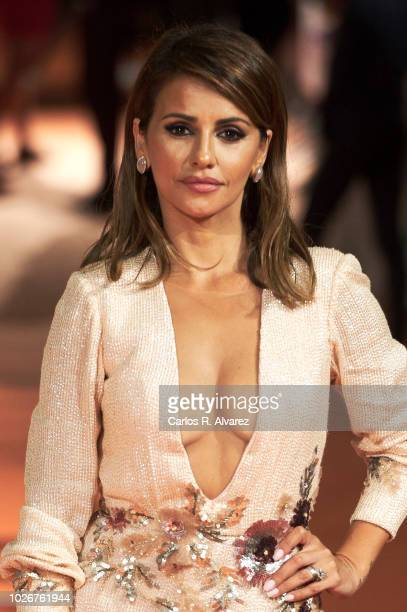 Actress Monica Cruz attends 'Velvet Coleccion' premiere at the Principal Teather during the FesTVal 2018 on September 4 2018 in VitoriaGasteiz Spain