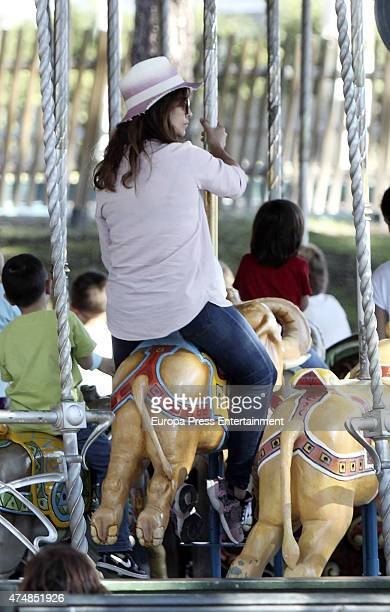 Actress Monica Cruz is seen at Madrid amusement park on March 30 2015 in Madrid Spain