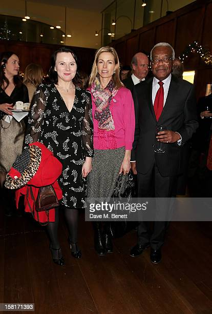 Actress Monica Dolan Kate McCann mother of Madeleine McCann and Sir Trevor McDonald attend the Missing People Carol Service at StMartinInTheFields...