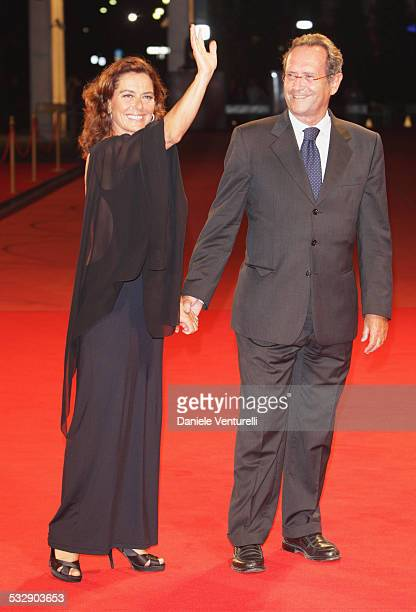 Actress Monica Guerritore and guest attend the Yuppi Du film premiere at the Sala Grande during the 65th Venice Film Festival on September 4 2008 in...