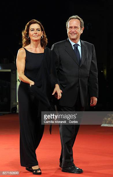 Actress Monica Guerritore and Roberto Zaccaria attend the premiere of Yuppi Du during 65th Venice Film Festival