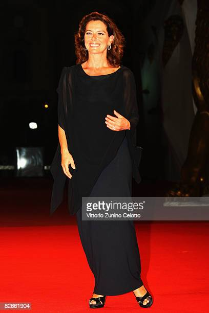Actress Monica Guerritore attends the Yuppi Du premiere at the Sala Grande during the 65th Venice Film Festival on September 4 2008 in Venice Italy