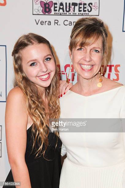 Actress Monica Horan and her daughter Lily Rosenthal attend the InnerCity Arts Imagine Gala at The Beverly Hilton Hotel on October 30 2013 in Beverly...