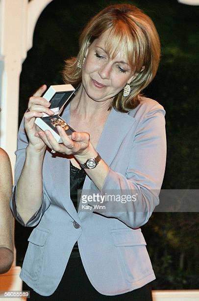 Actress Monica Horan is honored at the Women in Film and Television International Women of Achievement Awards November 1 at The Park Hyatt Hotel in...