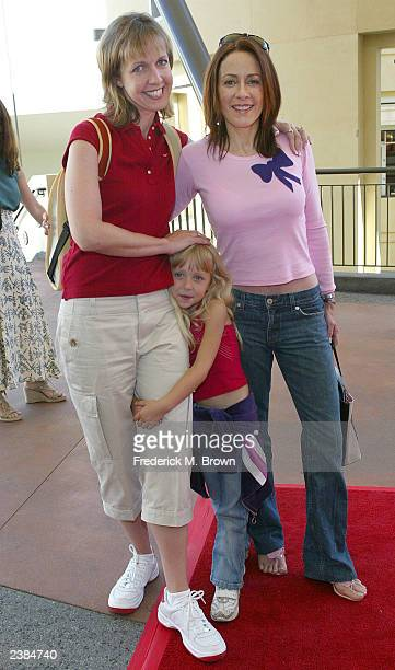 Actress Monica Horan Rosenthal her daughter and actress Patricia Heaton attend the Celebrity Fundraiser for Children Affected by AIDS Foundation at...