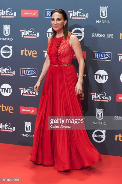 Actress Monica Huarte attends the Platino Awards 2017 photocall at the La Caja Magica on July 22 2017 in Madrid Spain