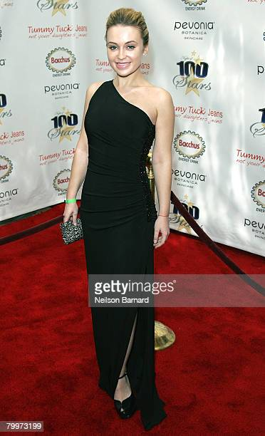 Actress Monica Keena arrives at the 18th Annual Night Of 100 Stars Gala held at the Beverly Hills Hotel on February 24 2008 in Beverly Hills...