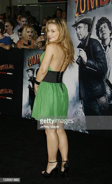 Actress Monica Keena arrives at the Los Angeles premiere of Zombieland at the Grauman's Chinese Theatre on September 23 2009 in Hollywood California