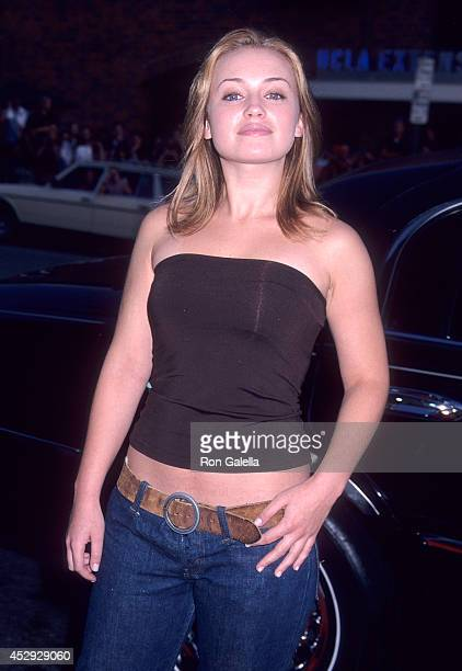 Actress Monica Keena attends the 'American Pie 2' Westwood Premiere on August 6 2001 at the Mann National Theatre in Westwood California