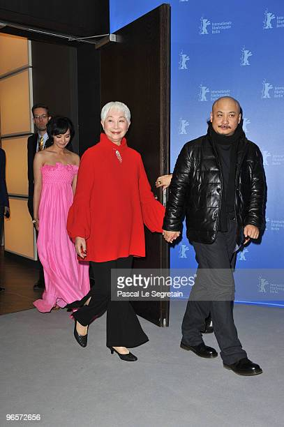 Actress Monica Mo, actress Lisa Lu and director Wang Quan�an arrive to the 'Tuan Yuan' Photocall during day one of the 60th Berlin Film Festival at...
