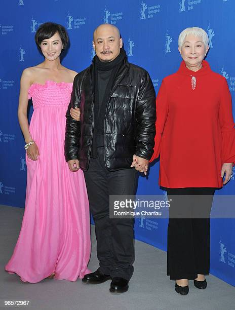 Actress Monica Mo, director Wang Quan�an and actress Lisa Lu attend the 'Tuan Yuan' Photocall during day one of the 60th Berlin Film Festival at the...