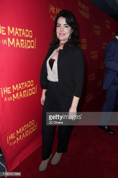 Actress Monica Ramon attends 'HE MATADO A MI MARIDO' Los Angeles Premiere at Harmony Gold Theatre on February 26 2019 in Los Angeles California