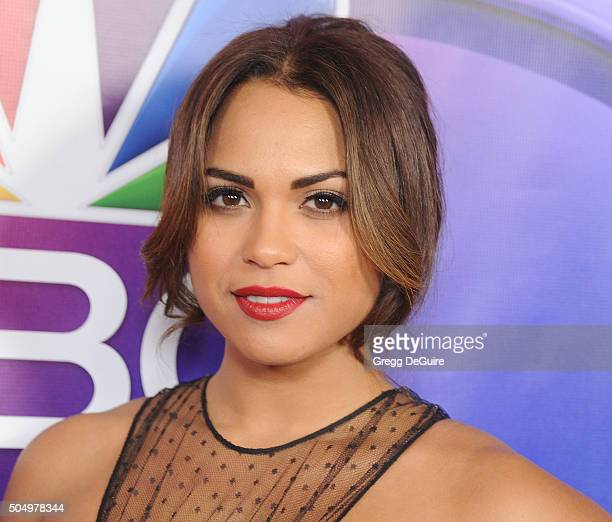 Actress Monica Raymund arrives at the 2016 NBCUniversal Winter TCA Press Tour at Langham Hotel on January 13 2016 in Pasadena California