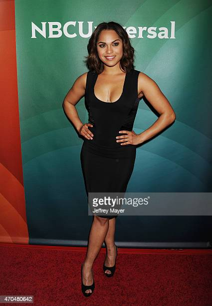 Actress Monica Raymund attends the 2015 NBCUniversal Summer Press Day held at the The Langham Huntington Hotel and Spa on April 02 2015 in Pasadena...