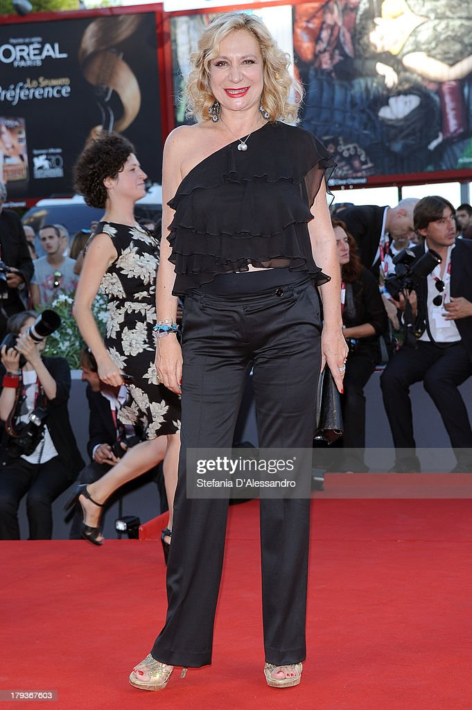 Actress Monica Scattini attends the 'The Zero Theorem' Premiere during the 70th Venice International Film Festival at Sala Grande on September 2, 2013 in Venice, Italy.