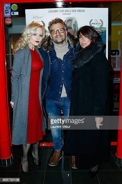 Actress Monika Ekiert Actor Patrick Mimoun and Actress Sophie Piccioto attend Polish Hope Paris Screening At Cinema Grand Action on January 19 2016...
